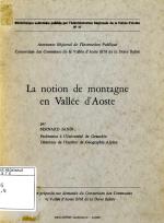 La notion de montagne en Vallée d'Aoste