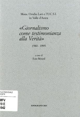 Mons. Ovidio Lari e l'Unione cattolica della stampa italiana in Valle d'Aosta (1980-1995)