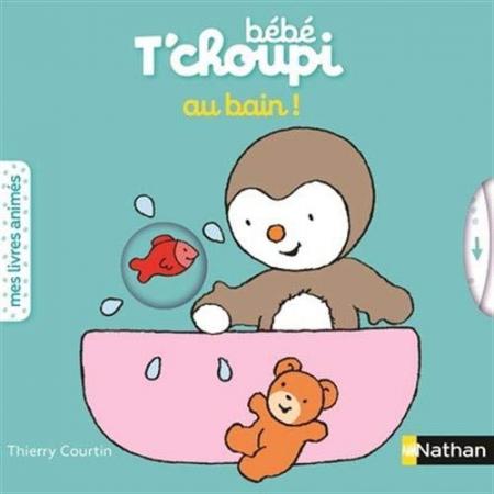 Bébé T'choupi au bain!