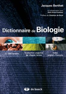 Dictionnaire de la biologie