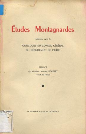 Etudes montagnardes