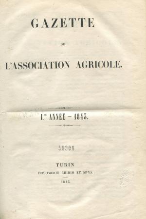 Gazette de l'Association agricole