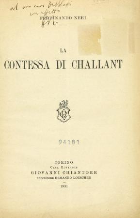 La contessa di Challant