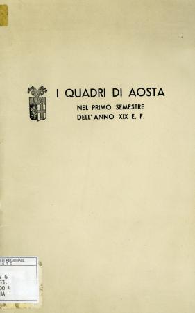 I quadri di Aosta nel primo semestre dell'anno XIX E.F.