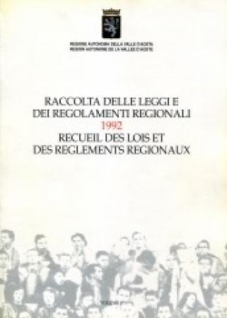 Raccolta delle leggi e dei regolamenti regionali