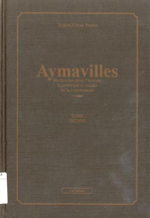Aymavilles. Tome 2, Recherches pour l'histoire économique et sociale de la communauté